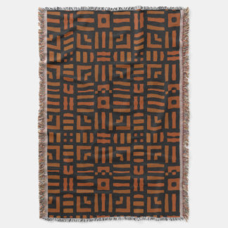 Warm African Geometric Tribal Design Throw Blanket
