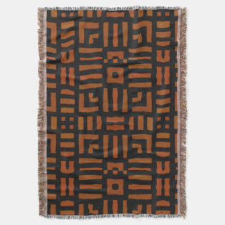 Warm African Tribal Design Throw Blanket
