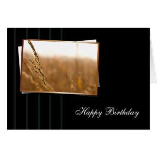 Warm and Classy Birthday Card