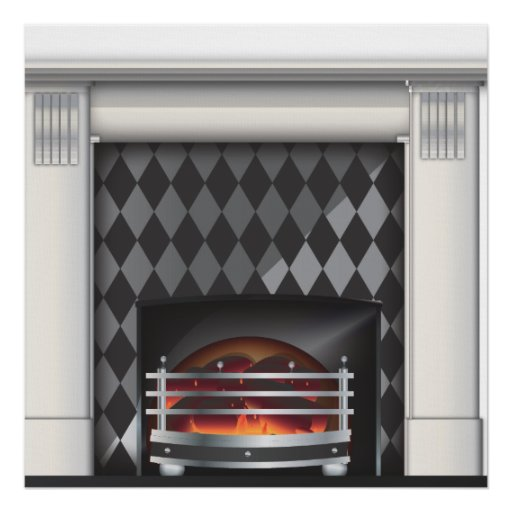 Warm and cosy Fireplace Print