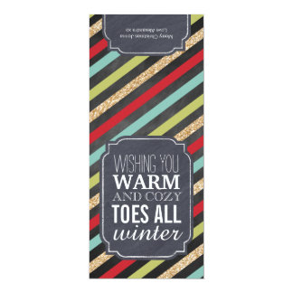 """Warm and Cozy Toes"" - Gift tag for wrapping socks 10 Cm X 24 Cm Invitation Card"