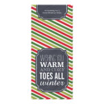"""Warm and Cozy Toes"" - Gift tag for wrapping socks Personalized Announcement"