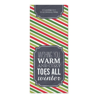 """""""Warm and Cozy Toes"""" - Gift tag for wrapping socks Personalized Announcement"""