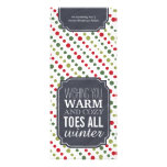 """Warm and Cozy Toes"" - Gift tag for wrapping socks Announcement"