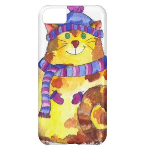 Warm and Cuddly Kitty Cat Kitten Cover For iPhone 5C