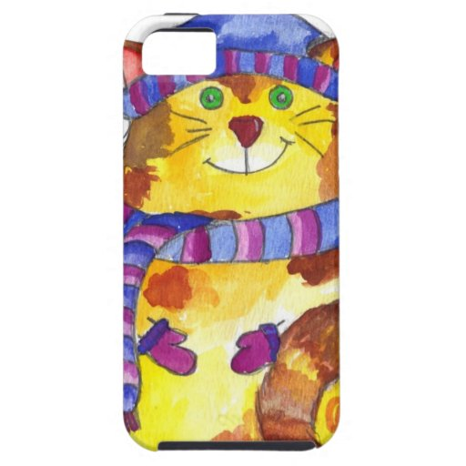 Warm and Cuddly Kitty Cat Kitten iPhone 5 Cases