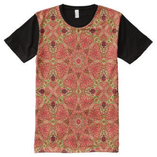 Warm Apricot Kaleidoscope ~ Beautiful Reflections All-Over Print T-Shirt