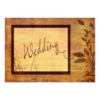 Warm Autumn Romance Affordable Wedding 5 x 7 Invitation
