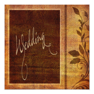"Warm Autumn Romance Affordable Wedding 5.25"" Square Invitation Card"