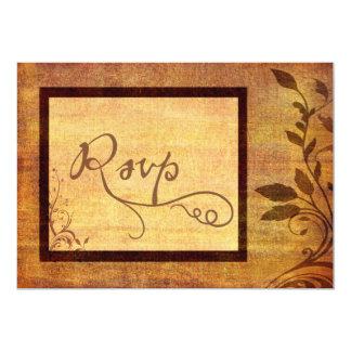"Warm Autumn Romance Affordable Wedding RSVP 5"" X 7"" Invitation Card"