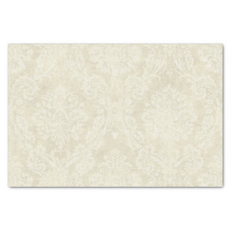 Warm Beige Damask Tissue Paper Sheets