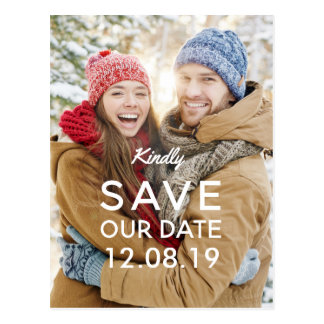 Warm Bright Photo Save the Date Postcard