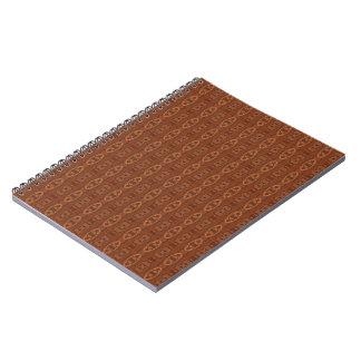 Warm Brown Pattern Notebook
