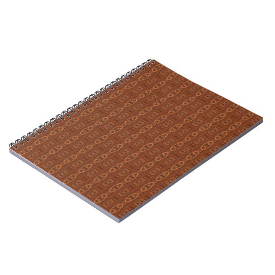 Warm Brown Pattern Notebook