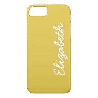 Warm Butterscotch Solid Color iPhone 7 Case