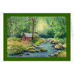 WARM CABIN by SHARON SHARPE Stationery Note Card