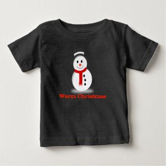 Warm Christmas Cute Snowman Baby Shirt