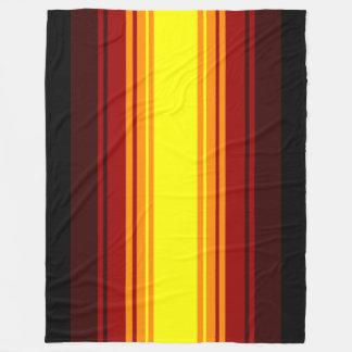 Warm color stripe pattern fleece blanket
