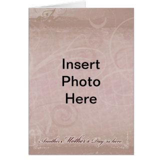 Warm Colored Mother's Day Card Photo Insert