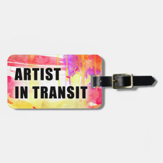 Warm Colorful Custom Artist Travel Tag