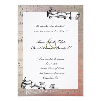 Warm Colors Music Wedding Invitation