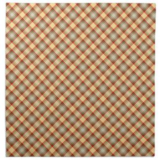 Warm colors plaid napkin