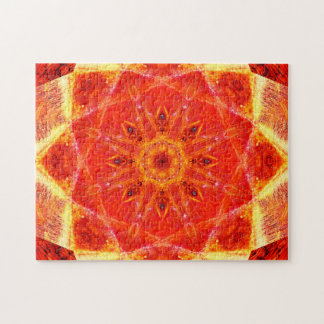 Warm Colors | Star Shapes | Relaxing Mandala Puzzle