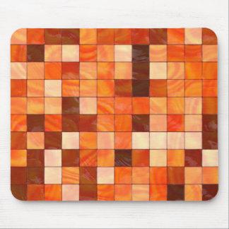 warm coloured tiles mouse pad