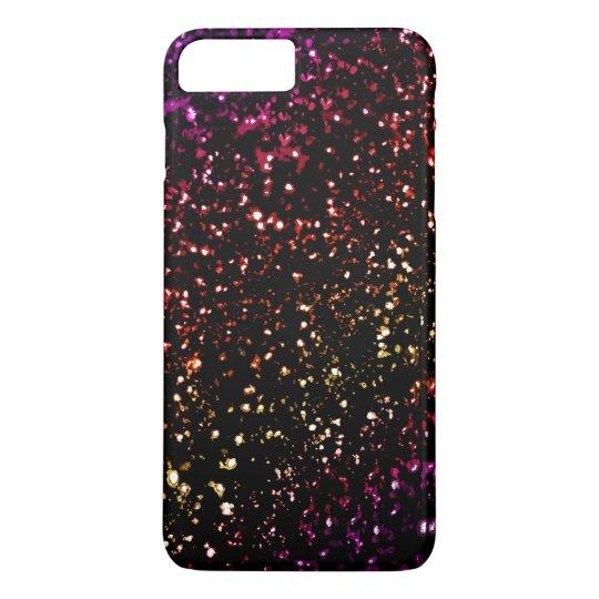 Warm Dark Rainbow Glitter  iPhone 7 Plus Case