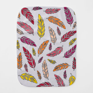 Warm Feathers Burp Cloth