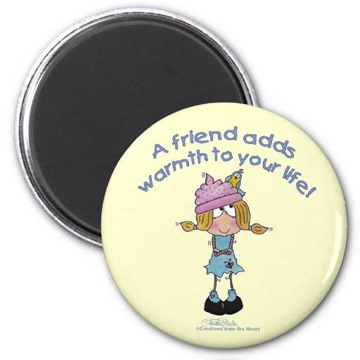 Warm Friends! Refrigerator Magnet