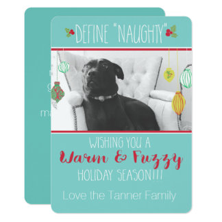Warm & Fuzzy Holiday Card 13 Cm X 18 Cm Invitation Card