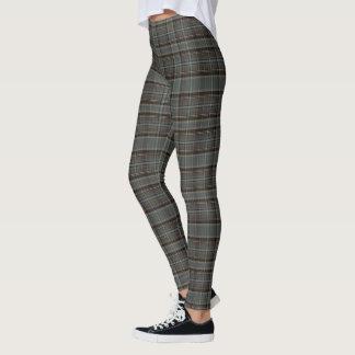 (warm gray & brown plaid) leggings