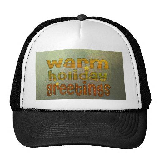 Warm holiday greetings trucker hat
