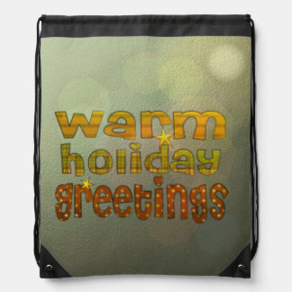 Warm holiday greetings backpack