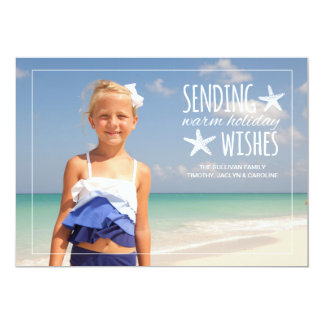 Warm Holiday Wishes   2015 Holiday Photo Greeting 13 Cm X 18 Cm Invitation Card