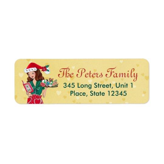 Warm Holiday Wishes | Address Return Labels