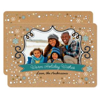 Warm Holiday Wishes. Custom Christmas Photo Cards
