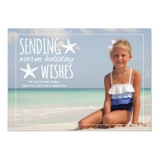 Warm Holiday Wishes   Holiday Photo Greeting 13 Cm X 18 Cm Invitation Card
