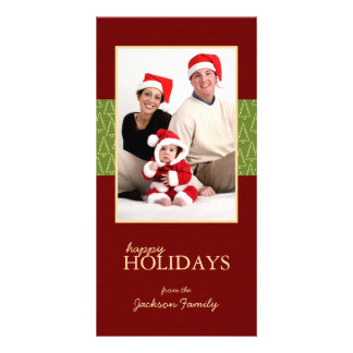 Warm Holidays Christmas Family Photo Cards