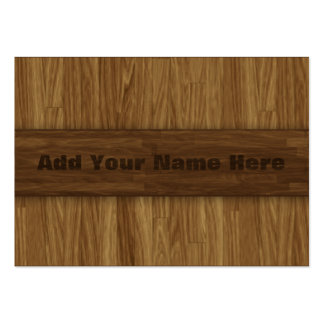 Warm Laminate Wood Panel Look Business Cards