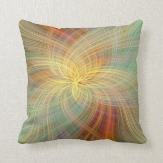 Warm multicolored abstract. Concept Positive Creat Cushion
