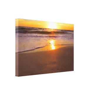 Warm Ocean Light Canvas Print