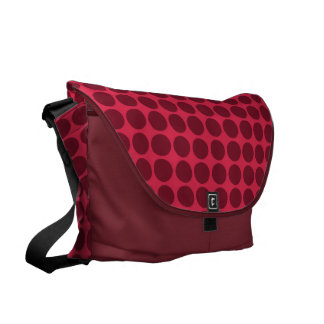 Warm polka dots amaranth and claret courier bags