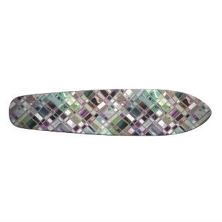 Warm Shiney Mosaic Pattern Skateboard