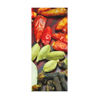 Warm Spices, Tall Canvas Wrapped Print