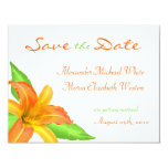 Warm Summer Flower Save the Date Announcements