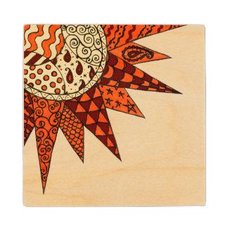 Warm Sunshine - Hippie Art Wooden Coaster