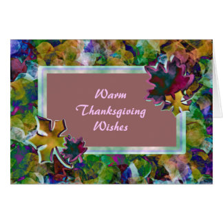 Warm Thanksgiving Wishes Greeting Card