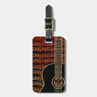 Warm Tones Guitar ID280 Luggage Tag